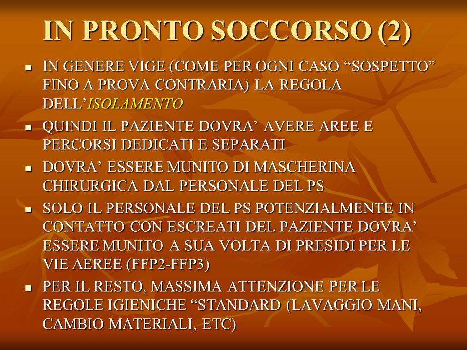 DOMICILIO O RICOVERO (1) .
