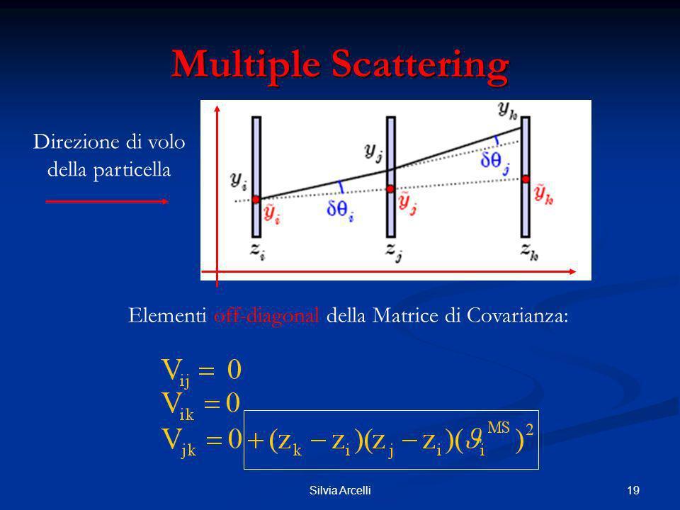 19Silvia Arcelli Multiple Scattering Elementi off-diagonal della Matrice di Covarianza: Direzione di volo della particella