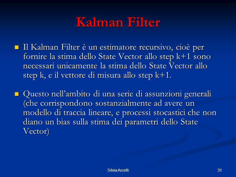 31Silvia Arcelli Kalman Filter Il Kalman Filter è un estimatore recursivo, cioè per fornire la stima dello State Vector allo step k+1 sono necessari u