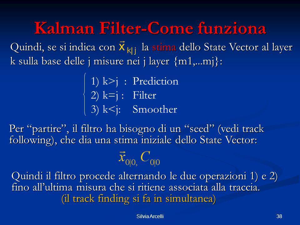 38Silvia Arcelli Kalman Filter-Come funziona Per partire, il filtro ha bisogno di un seed (vedi track following), che dia una stima iniziale dello Sta