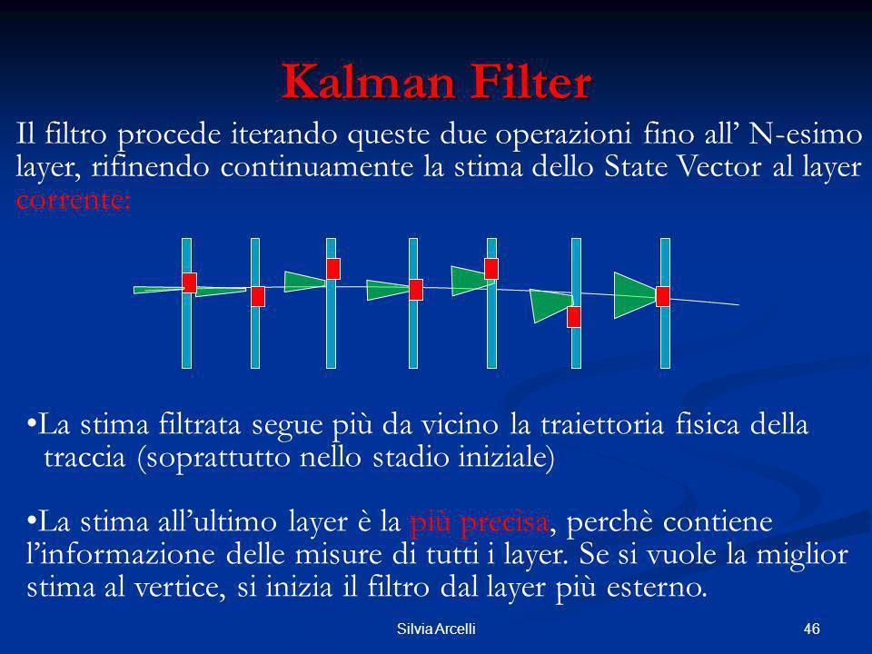 46Silvia Arcelli Kalman Filter Il filtro procede iterando queste due operazioni fino all N-esimo layer, rifinendo continuamente la stima dello State V
