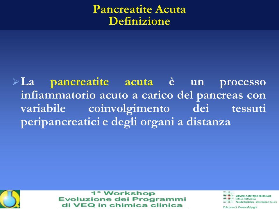Pancreatite Acuta Definizione La pancreatite acuta è un processo infiammatorio acuto a carico del pancreas con variabile coinvolgimento dei tessuti pe