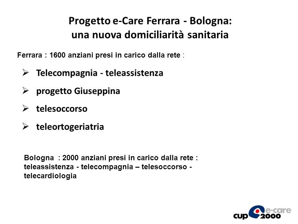 Progetto e-Care Ferrara - Bologna: una nuova domiciliarità sanitaria Telecompagnia - teleassistenza progetto Giuseppina telesoccorso teleortogeriatria