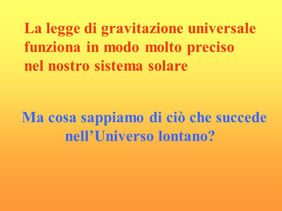 La legge di gravitazione universale funziona in modo molto preciso nel nostro sistema solare Ma cosa sappiamo di ciò che succede nellUniverso lontano