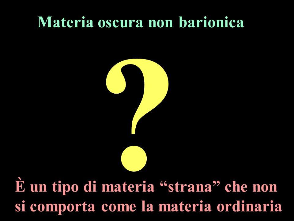 Materia oscura non barionica È un tipo di materia strana che non si comporta come la materia ordinaria
