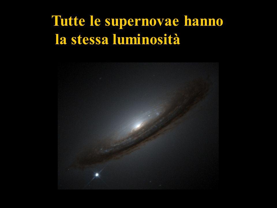 Tutte le supernovae hanno la stessa luminosità