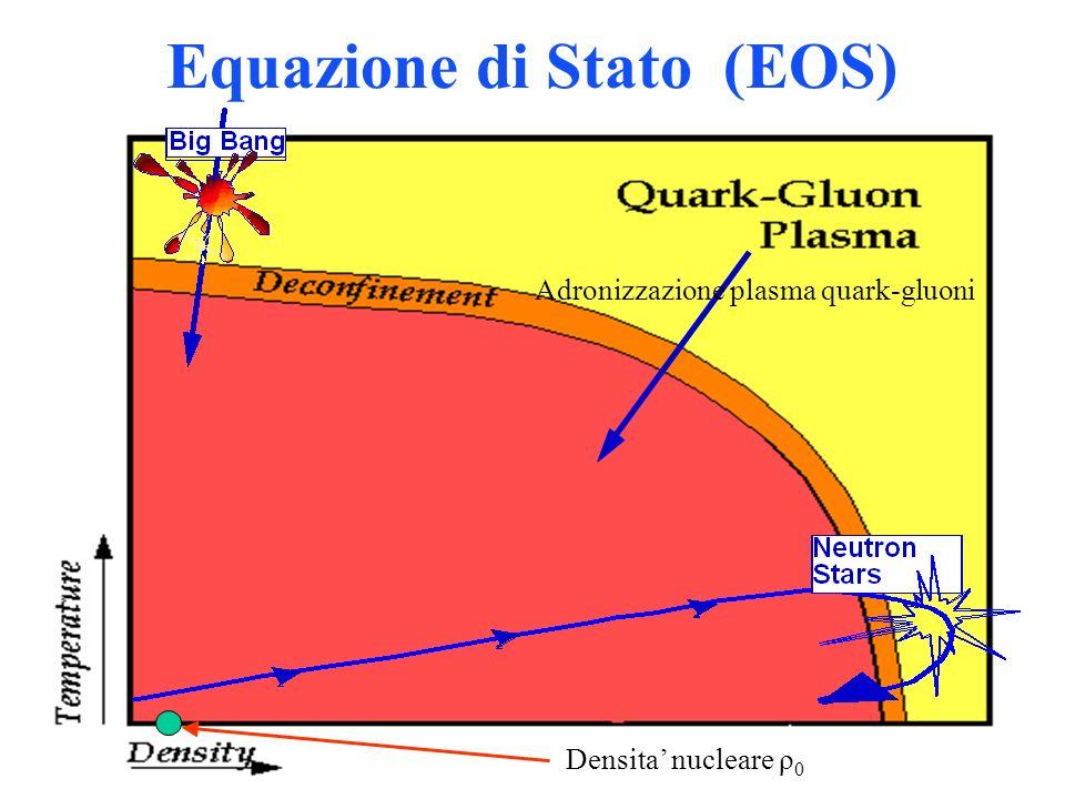 Equazione di Stato (EOS) Adronizzazione plasma quark-gluoni Densita nucleare ρ 0