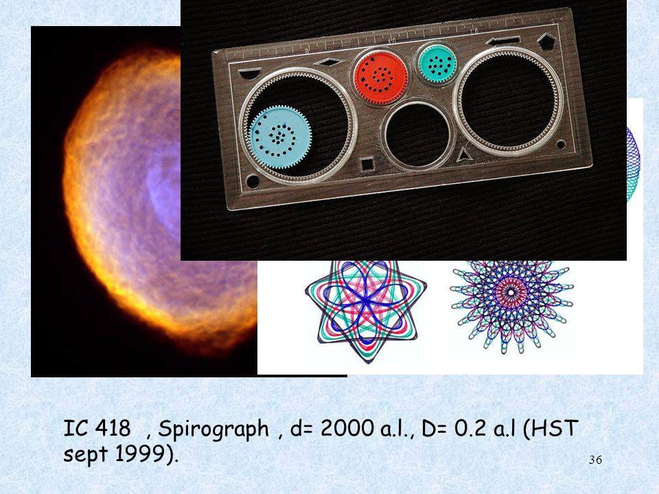 IC 418, Spirograph, d= 2000 a.l., D= 0.2 a.l (HST sept 1999). 36