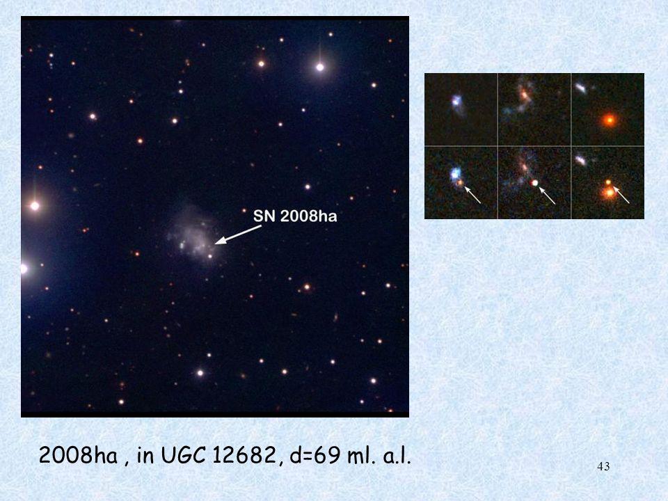 2008ha, in UGC 12682, d=69 ml. a.l. 43