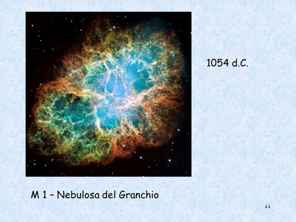 M 1 – Nebulosa del Granchio 1054 d.C. 44