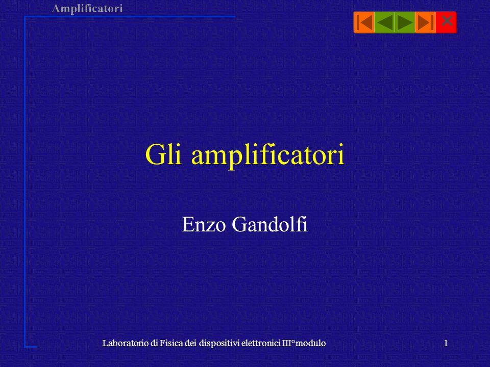 Amplificatori Laboratorio di Fisica dei dispositivi elettronici III°modulo1 Gli amplificatori Enzo Gandolfi