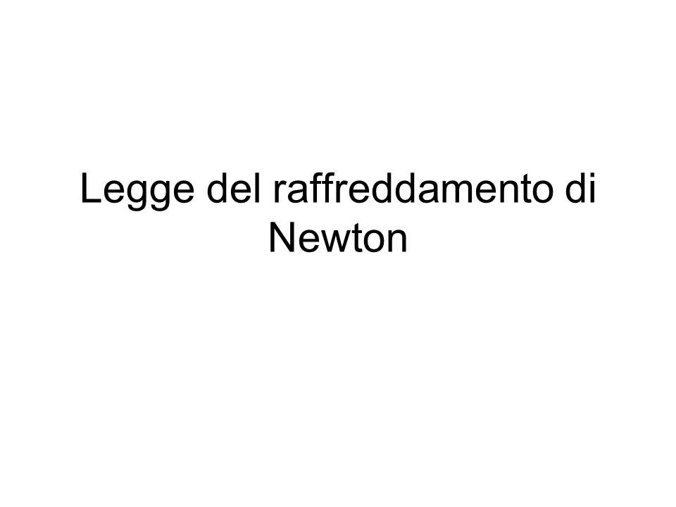 Legge del raffreddamento di Newton