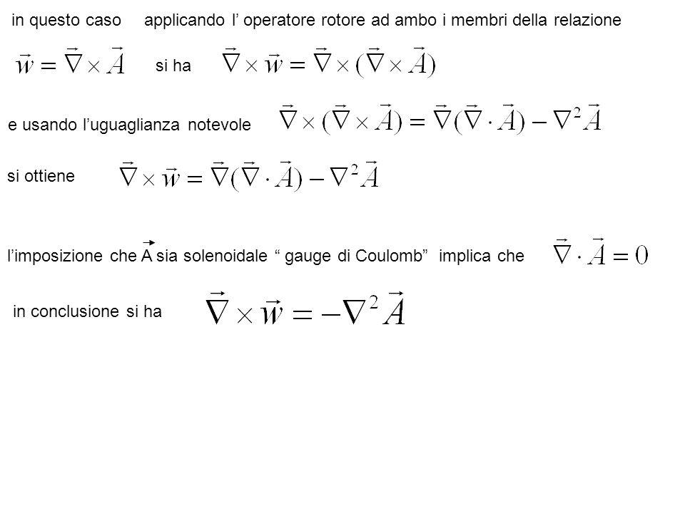 in coordinate cartesiane l equazione vettorialesi riconduce a tre equazioni scalari loperatore agisce su di una funzione scalare e