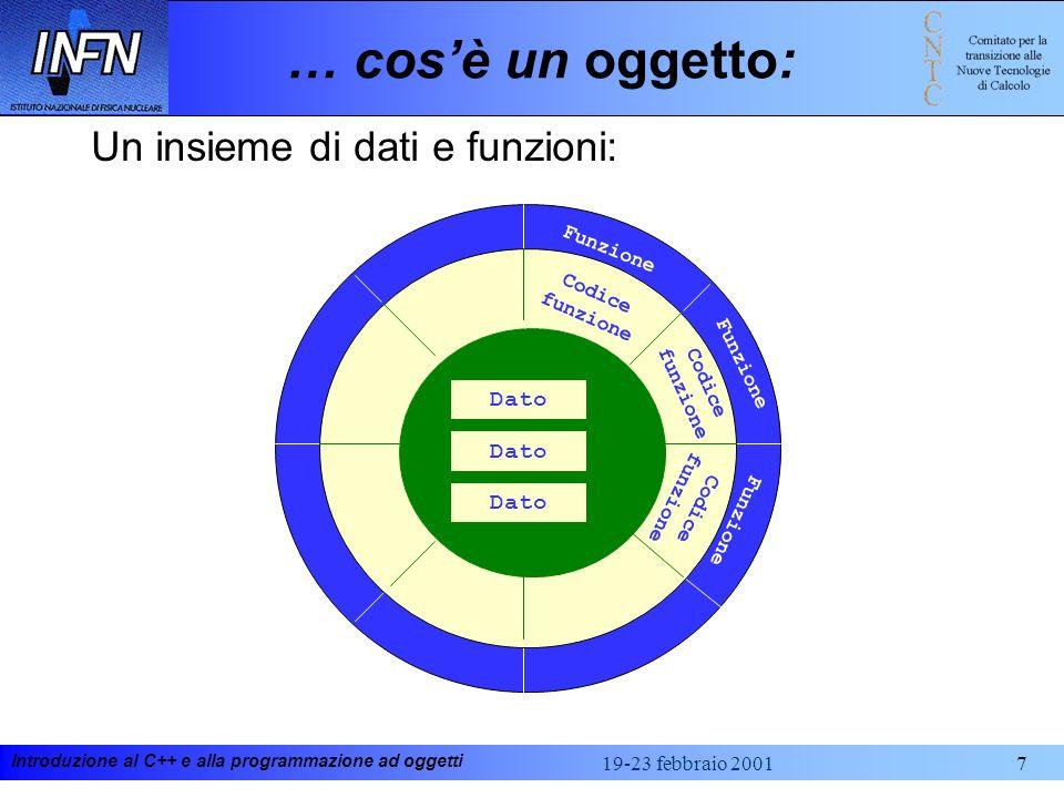 Introduzione al C++ e alla programmazione ad oggetti 19-23 febbraio 2001168 Class Diagram