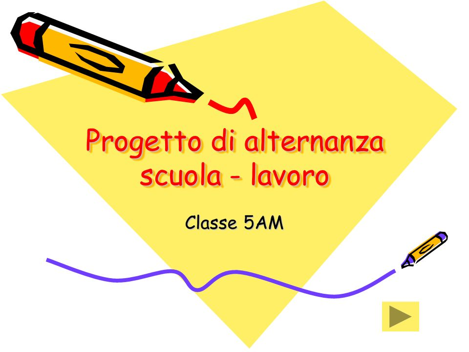 Progetto di alternanza scuola - lavoro Classe 5AM