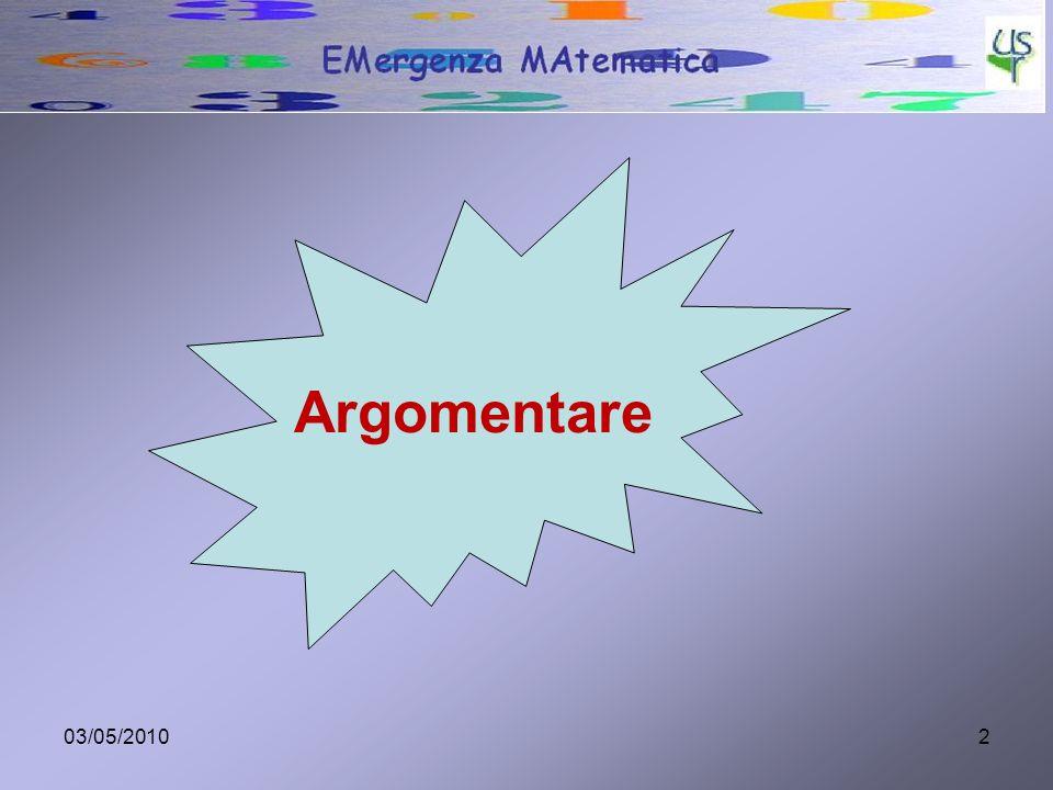 03/05/20102 Argomentare