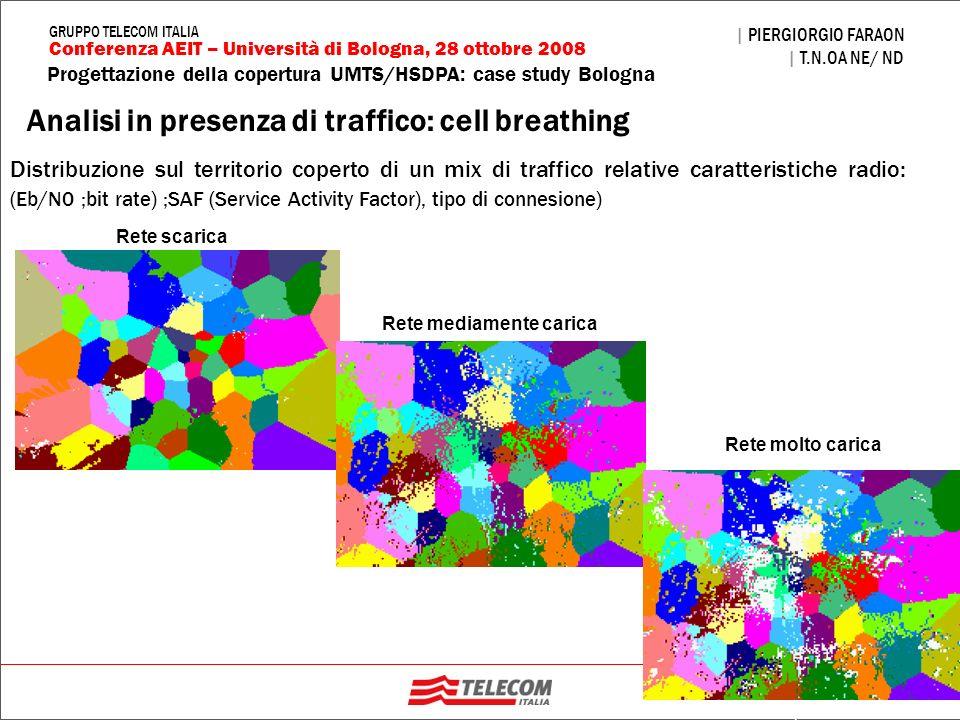 32 Progettazione della copertura UMTS/HSDPA: case study Bologna | PIERGIORGIO FARAON | T.N.OA NE/ ND Conferenza AEIT – Università di Bologna, 28 ottob