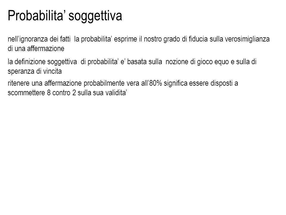 Definizione assiomatica di probabilita: assiomi di Kolmogorov :