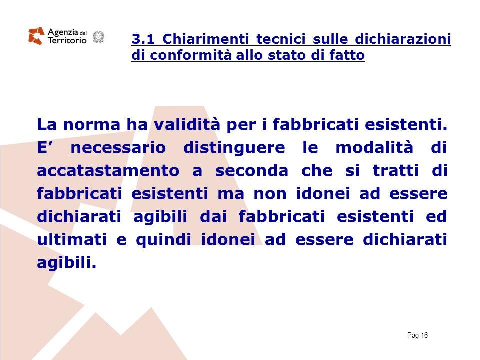 Pag 16 La norma ha validità per i fabbricati esistenti.