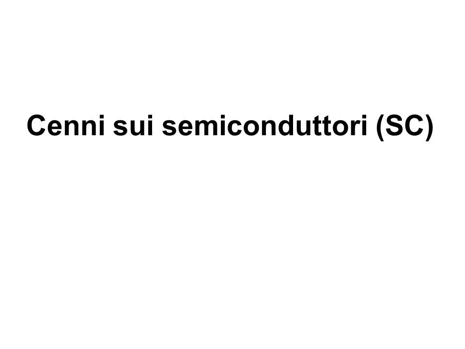 Cenni sui semiconduttori (SC) 1