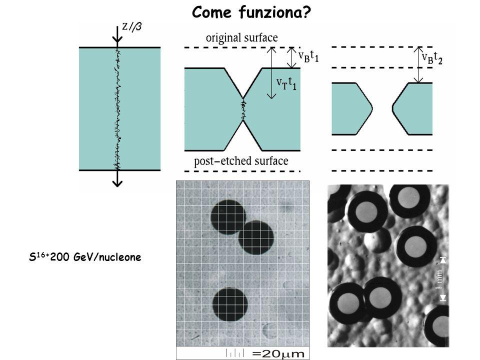 Come funziona? S 16+ 200 GeV/nucleone