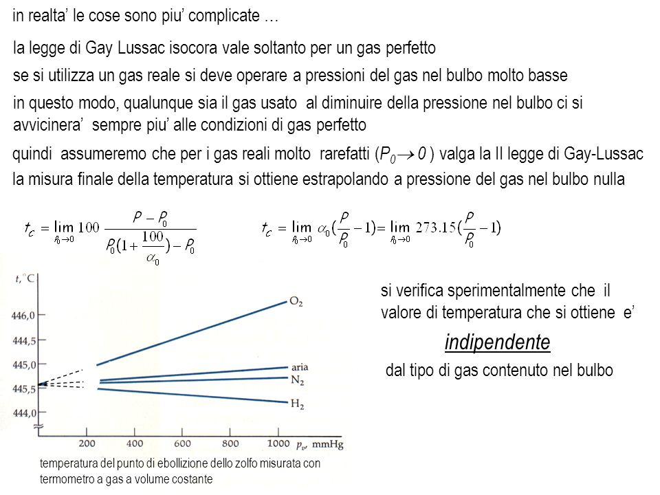 la legge di Gay Lussac isocora vale soltanto per un gas perfetto in realta le cose sono piu complicate … se si utilizza un gas reale si deve operare a