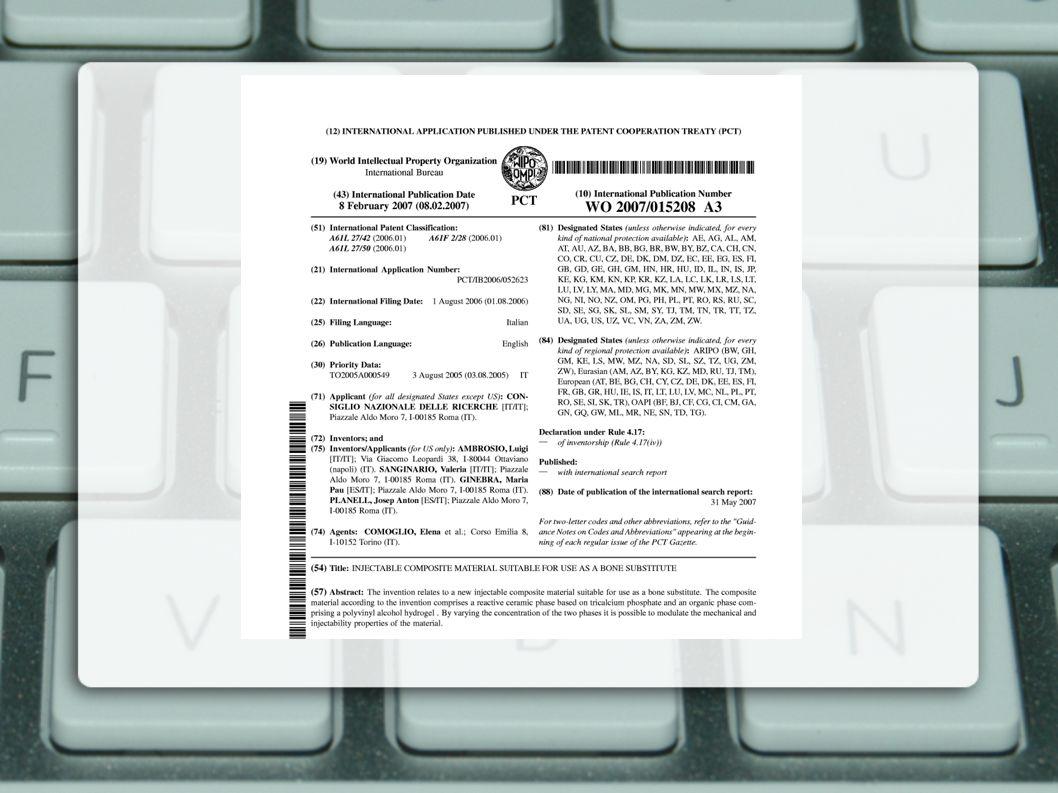 La ricerca per codici di classificazione tecnologica Tutti i documenti brevettuali sono classificati in maniera sistematica assegnando uno o più codici di riferimento ad un settore tecnologico.