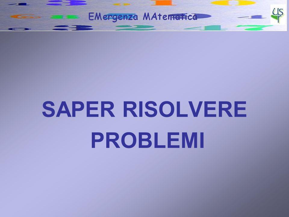 SAPER RISOLVERE PROBLEMI