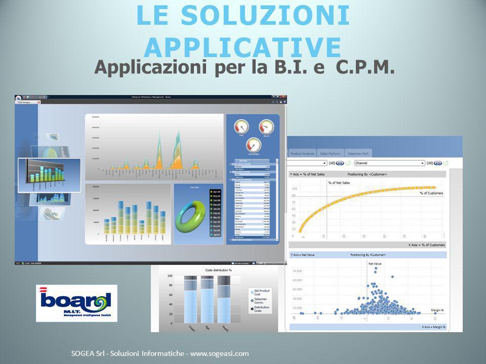 LE SOLUZIONI APPLICATIVE SOGEA Srl - Soluzioni Informatiche - www.sogeasi.com Applicazioni per la B.I.