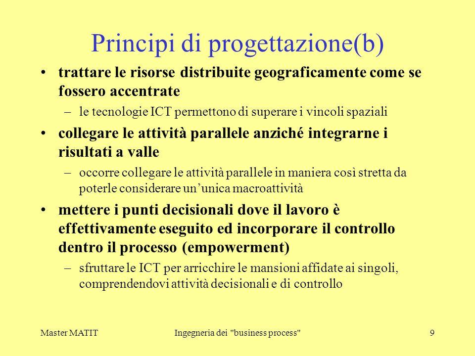 Master MATITIngegneria dei business process 10 2) BUSINESS PROCESS IMPROVEMENT