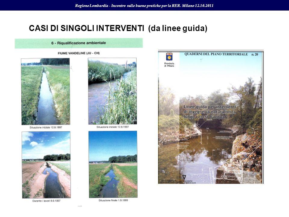 CASI DI SINGOLI INTERVENTI (da linee guida) Regione Lombardia - Incontro sulle buone pratiche per la RER. Milano 12.10.2011