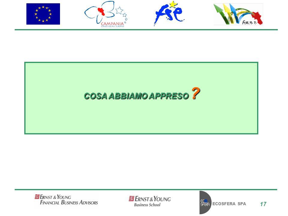 ECOSFERA SPA 17 COSA ABBIAMO APPRESO ?