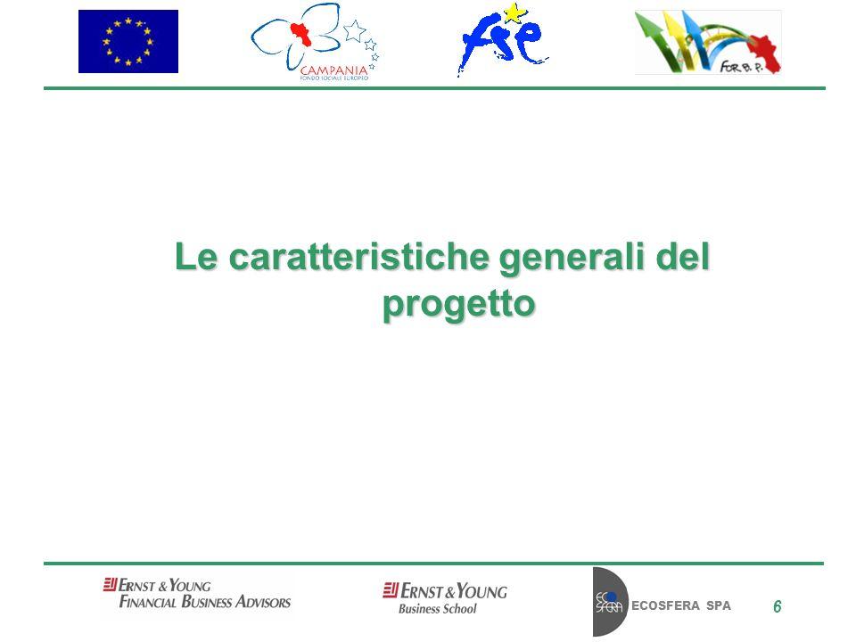 ECOSFERA SPA 6 Le caratteristiche generali del progetto