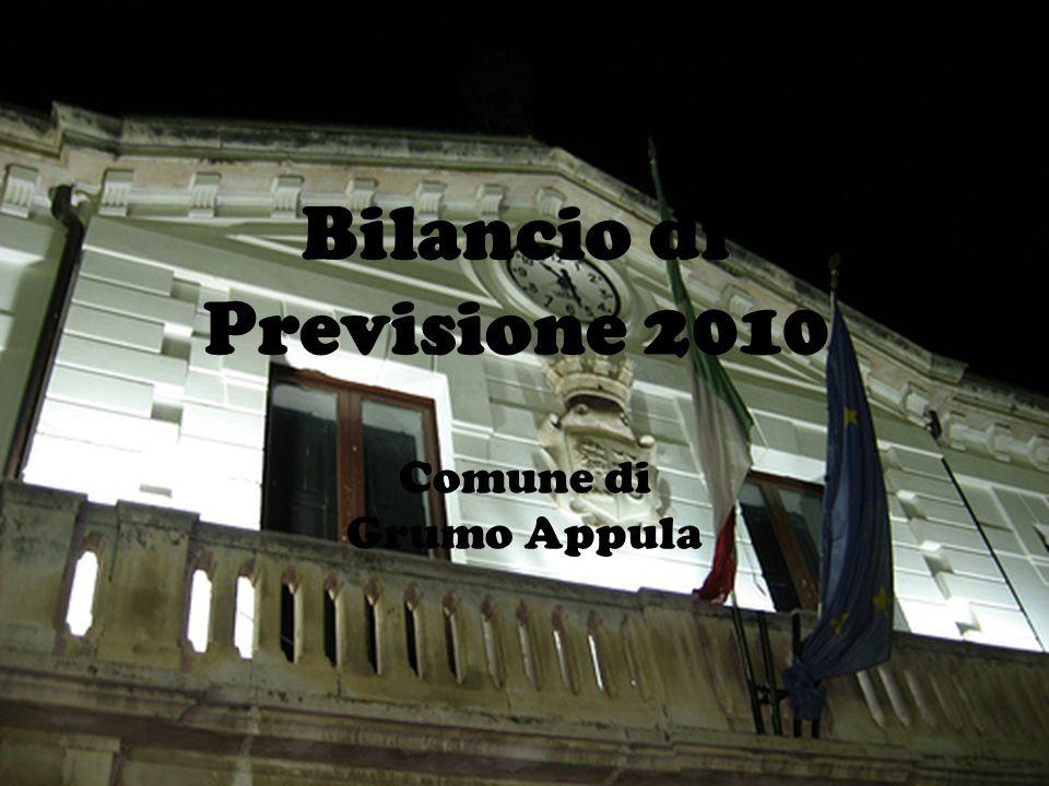 Comune di Grumo Appula Bilancio di Previsione 2010