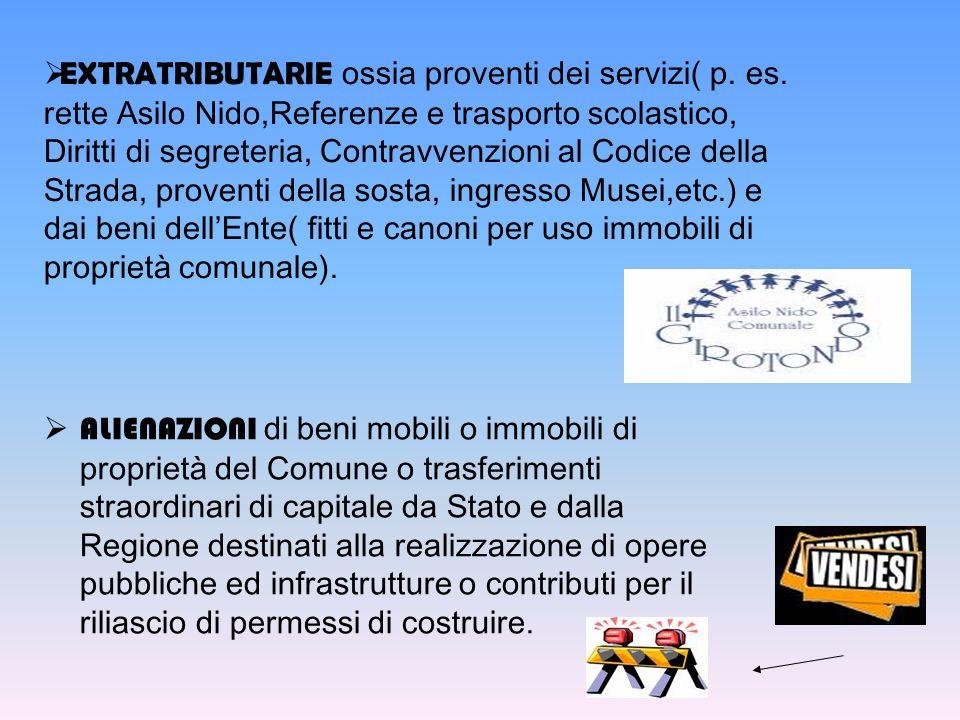 EXTRATRIBUTARIE ossia proventi dei servizi( p. es.