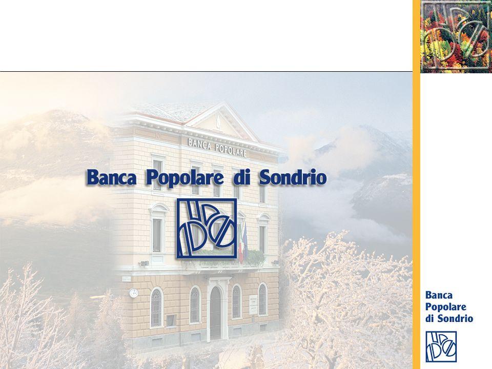 Una delle prime banche popolari fondate in Italia Costituita il 4 marzo 1871 a Sondrio Circa 160.000 soci, in larga parte clienti 1