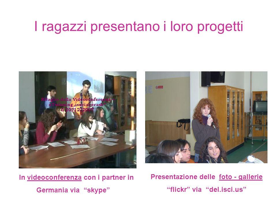 I ragazzi presentano i loro progetti In videoconferenza con i partner in Germania via skype Presentazione delle foto - gallerie flickr via del.isci.us