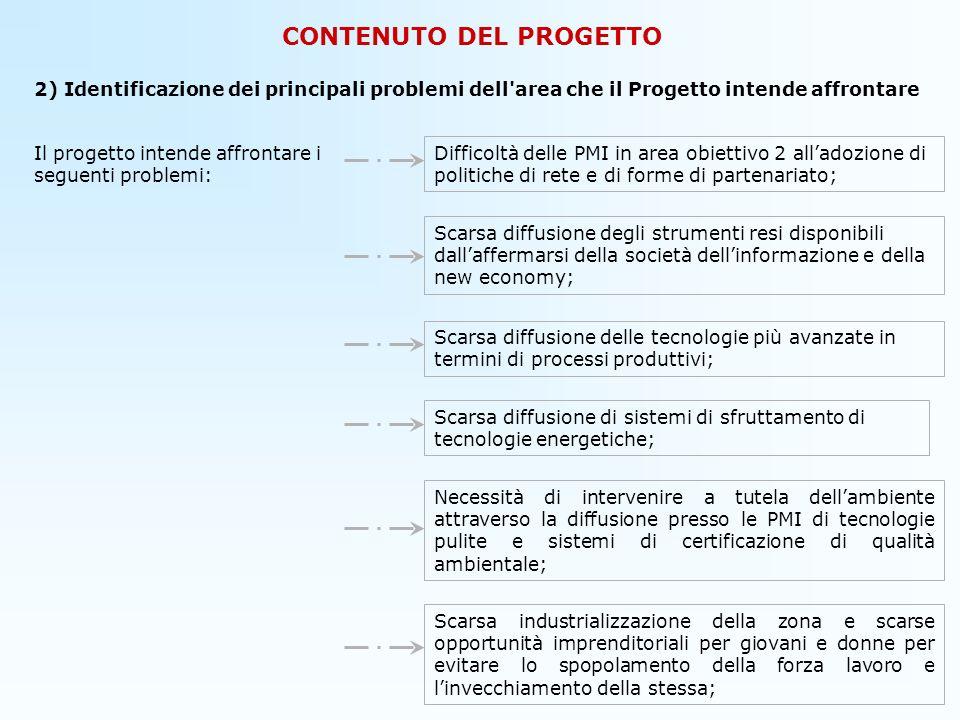 CONTENUTO DEL PROGETTO 3) Descrizione delle relazioni e delle sinergie del Progetto con altre iniziative interessanti larea.