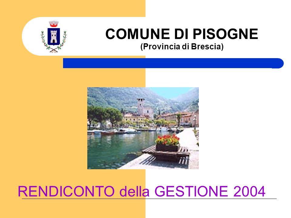 Comune di Pisogne (BS) Rendiconto della Gestione 2004 I SERVIZI DEL COMUNE SERVIZI COMUNALI DI COSA SI OCCUPA IL COMUNE.