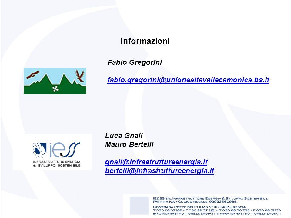 Luca Gnali Mauro Bertelli gnali@infrastruttureenergia.it bertelli@infrastruttureenergia.it@infrastruttureenergia.it Informazioni Fabio Gregorini fabio