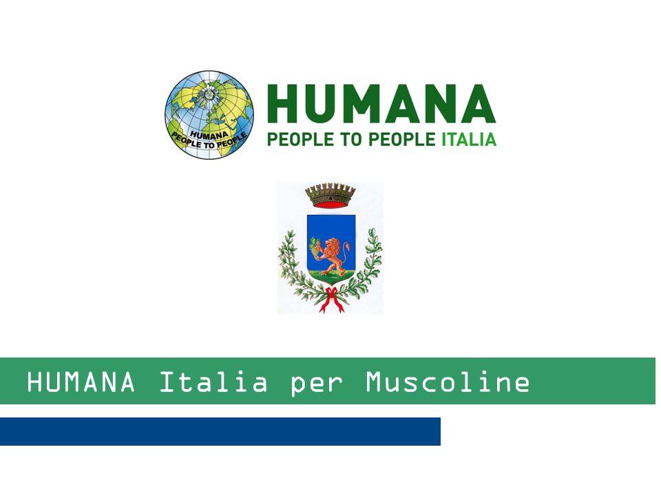 1 HUMANA People to People Italia ONLUS HUMANA People to People Italia ONLUS è unorganizzazione umanitaria indipendente e laica, nata nel 1998 per contribuire allo sviluppo di popoli svantaggiati nel Sud del mondo attraverso programmi umanitari di lungo termine.