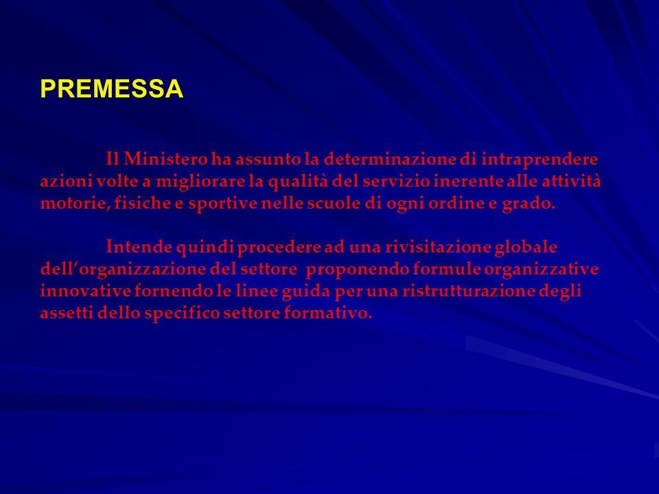PREMESSA PREMESSA Il Ministero ha assunto la determinazione di intraprendere azioni volte a migliorare la qualità del servizio inerente alle attività