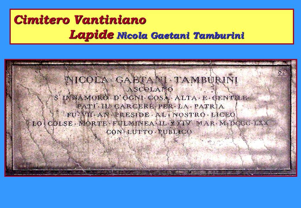 Cimitero Vantiniano Lapidi - Ingresso Semicerchio Sera