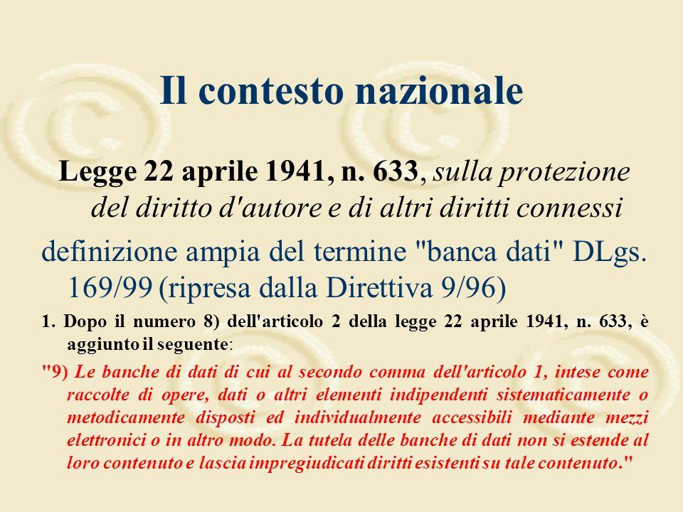 Dalle direttive comunitarie alla legislazione nazionale Legge Delega 24 aprile 1998, n.