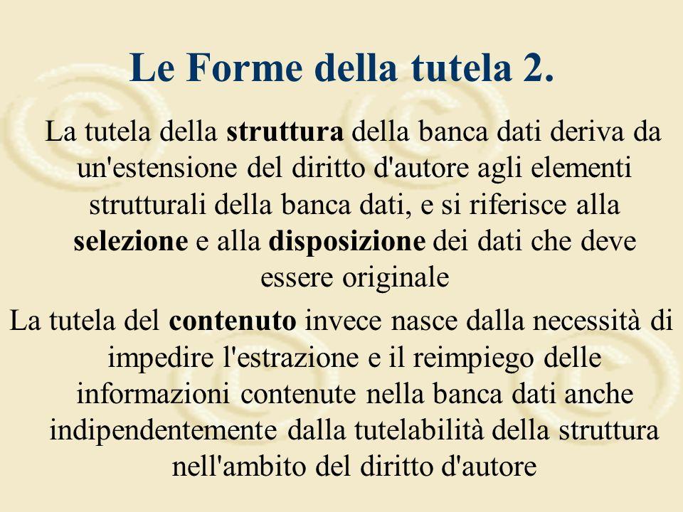 Le Forme della tutela 1.