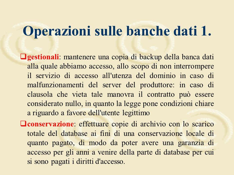 Le banche dati in biblioteca: un primo approccio giuridico 2.