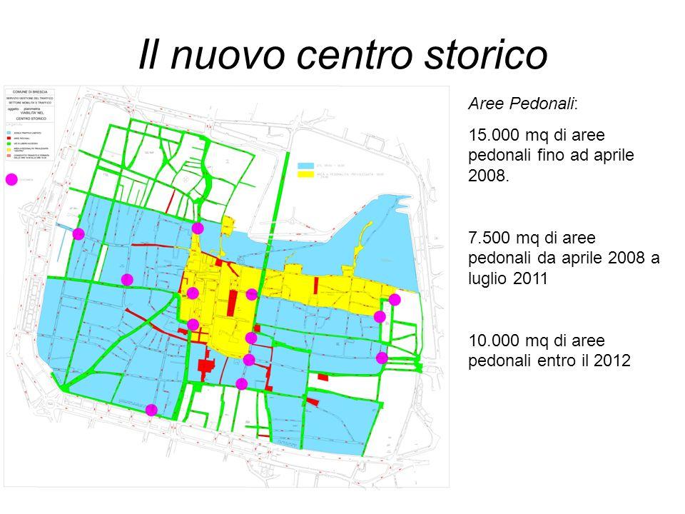 Il nuovo centro storico Aree Pedonali: 15.000 mq di aree pedonali fino ad aprile 2008. 7.500 mq di aree pedonali da aprile 2008 a luglio 2011 10.000 m