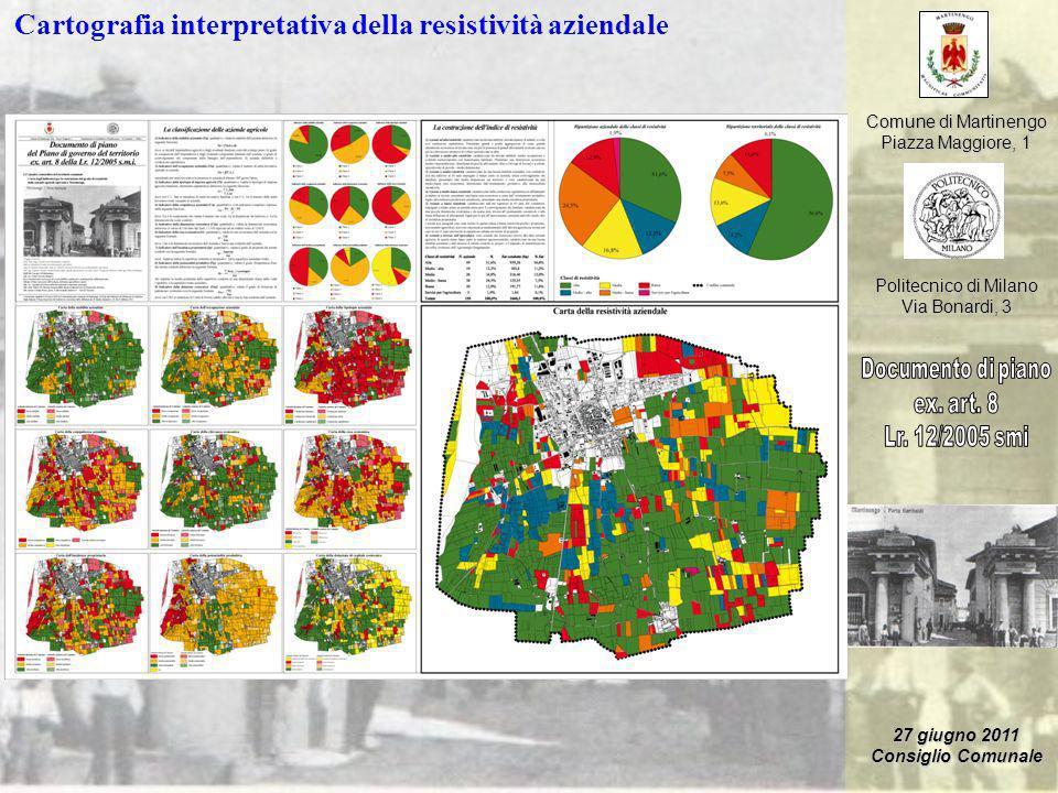 Comune di Martinengo Piazza Maggiore, 1 Politecnico di Milano Via Bonardi, 3 27 giugno 2011 Consiglio Comunale Cartografia interpretativa della resist