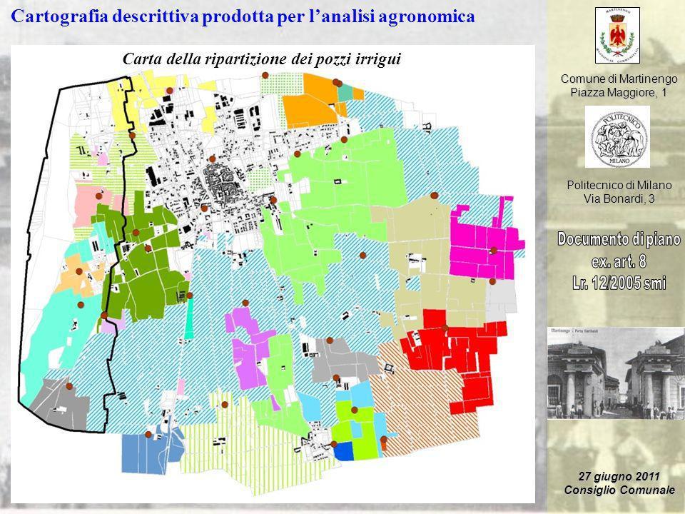 Comune di Martinengo Piazza Maggiore, 1 Politecnico di Milano Via Bonardi, 3 27 giugno 2011 Consiglio Comunale Cartografia descrittiva prodotta per la