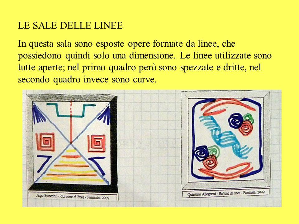 LE SALE DELLE LINEE In questa sala sono esposte opere formate da linee, che possiedono quindi solo una dimensione. Le linee utilizzate sono tutte aper